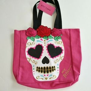 Betsey Johnson Sugar Skull Tote